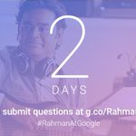 Fans, your chance to interview me. Ask questions over video, post on YouTube with hashtag #RahmanAtGoogle http://t.co/sgjcdnrvMe