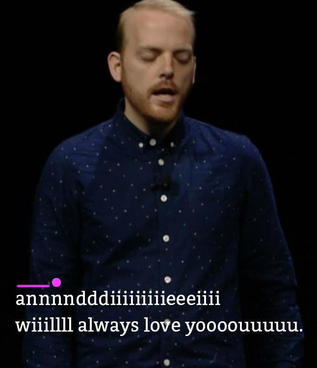 If you watch my WWDC talk, make sure you turn on the hidden karaoke track so you can sing along