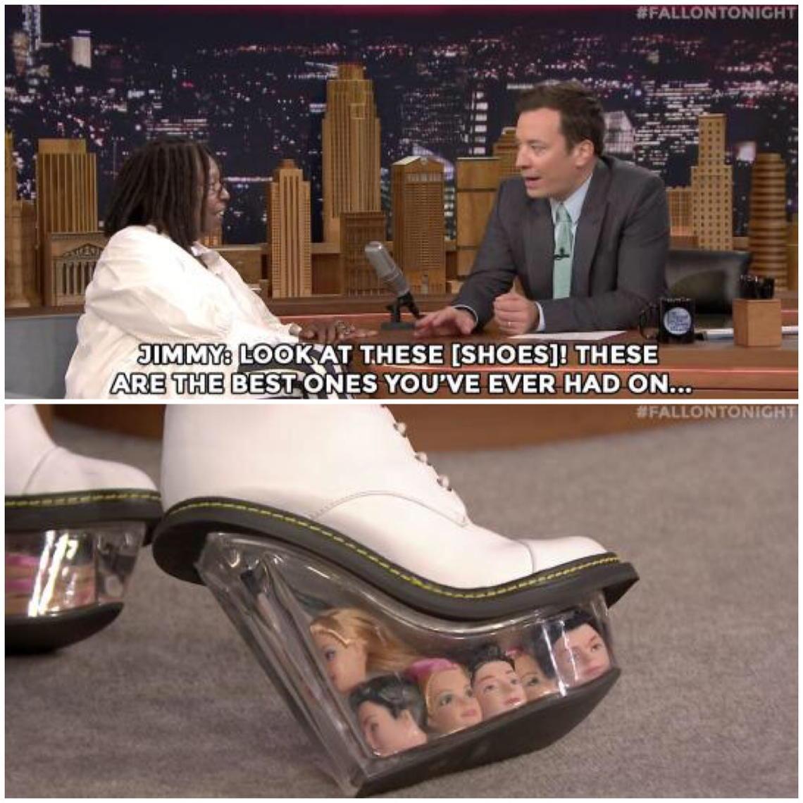 ウーピー・ゴールドバーグの靴底がコワいwwww http://t.co/Y0X8VJN1fH
