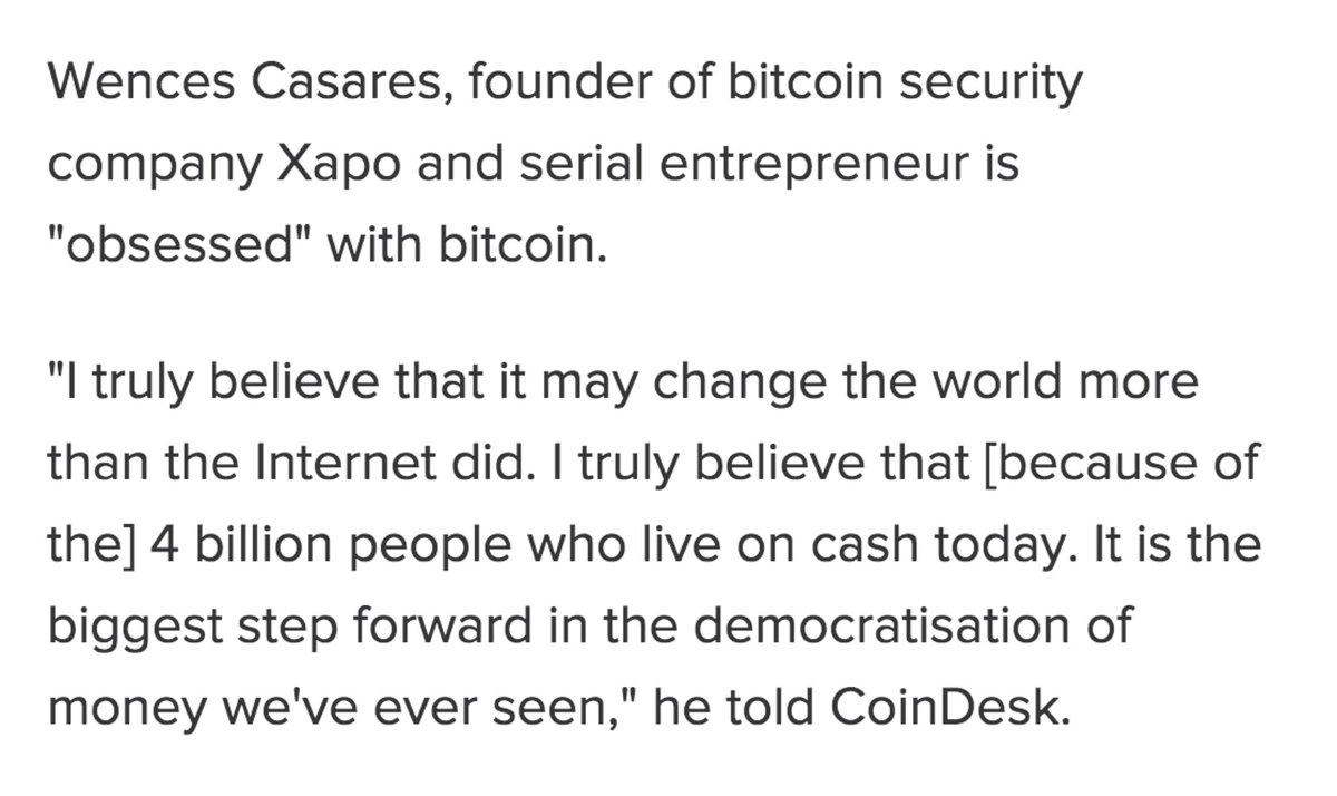 Xapo's @wences on bitcoin's long-term potential. http://t.co/rXMOCNLpKS http://t.co/D7YFCfBp5r