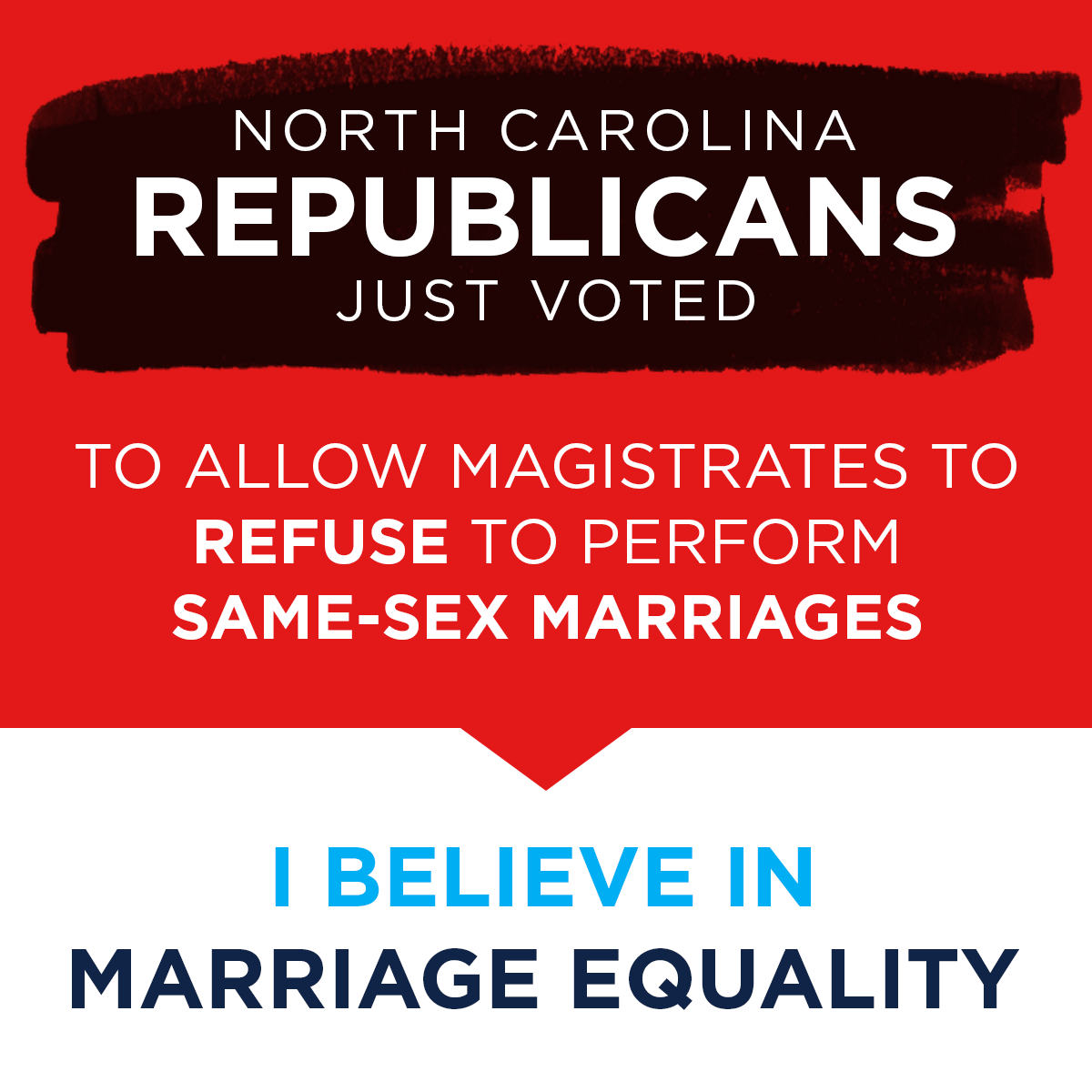 A sad day for NC families. GOP legalize discrimination without notice or debate. That's just wrong. #ncpol http://t.co/I8Gpi8dEXh