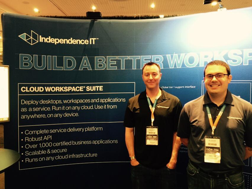 Meet Patrick & Will from @IndependenceIT here at #CloudExpo they make it easy to deploy desktops & apps on the Cloud http://t.co/MKqxsRmAot