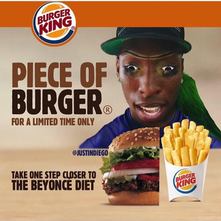 RT @NickiMLoversXO: @DreamPink85 mom wants a #pieceofburger can u get her one plz???? and plz from buger king ???? @NICKIMINAJ http://t.co/SOq8hn…