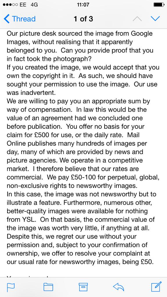Image theft by @Femail @MailOnline followed by insults to author @LBQblog . Disgraceful & unprofessional behaviour. http://t.co/crlQyTHdVI