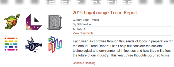 What's trending in #logodesign? https://t.co/VdGyiqC2x3 Or check your copy of @GDUSAmagazine. http://t.co/Q0TqzlXTtB
