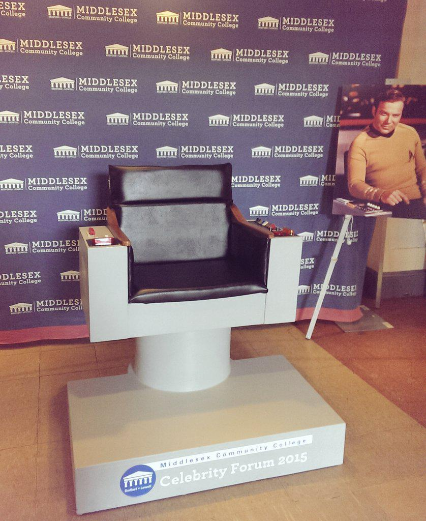 Coming to see @WilliamShatner tonight? Snap a pic in the Captain's chair and tweet it to us using #MCCShatner http://t.co/v4yxOCTtZs