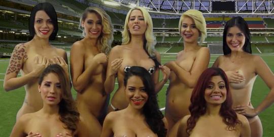 Équipe de football des femmes brésiliennes nu
