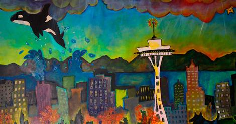 Art Walks are everywhere! Explore local art. Your #Seattle art calendar this week ~ http://t.co/jJxQsnjOUH #artSEA http://t.co/KgCnL1oG7l