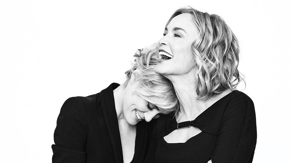 Jessica Lange, @TaySchilling on embracing TV chaos with AmericanHorrorStory, OITNB (VIDEO)