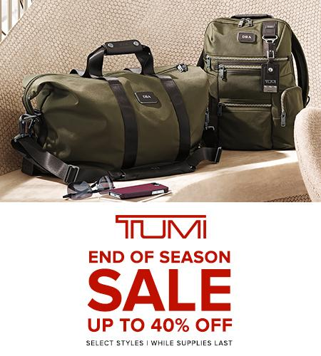 Sale now at DCA includes select styles @Tumitravel while supplies last. Details: