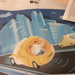RT @sethdmichaels: extremely optimistic NYT illustration has a guy in a driverless car reading a print-edition newspaper http://t.co/H4qxSA…