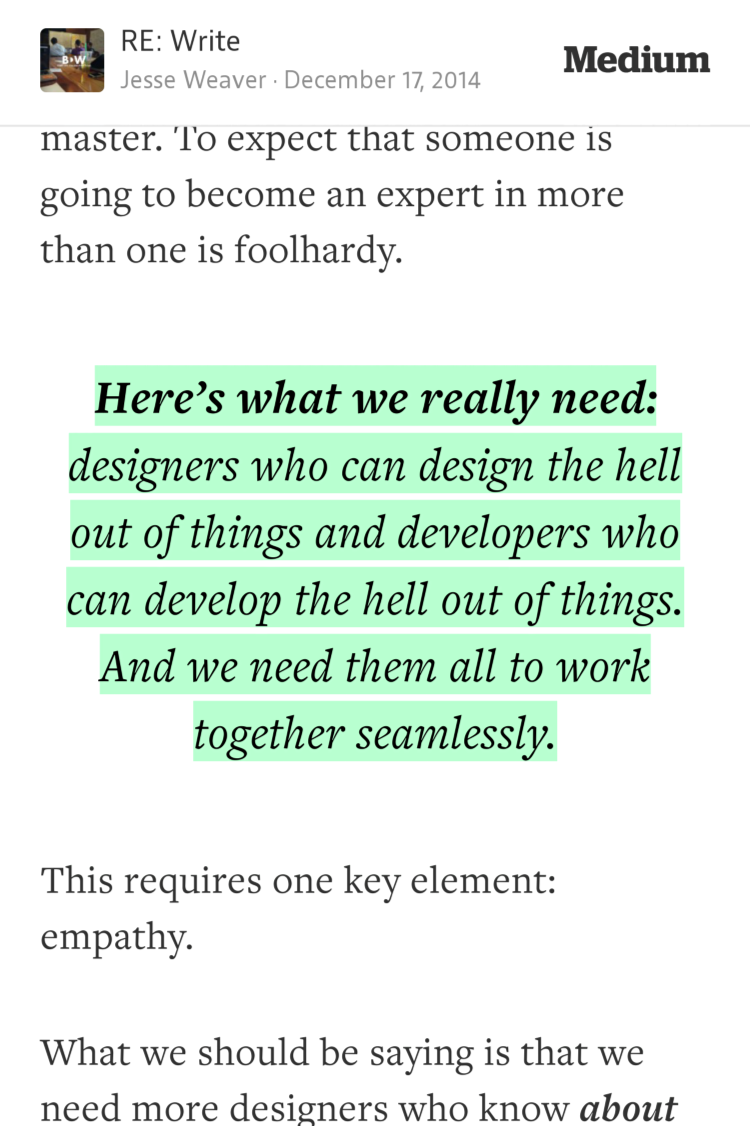 """""""Here's what we really need: designers who can design the hell out of…""""—@hairyelefante https://t.co/AQDNoFcnm7 http://t.co/JojDktyU6k"""