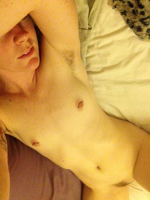 Hello boobs, goodbye armpit hair. #nakedselfie #hairypitsclub #hairygirl #ittybittytitycommittee http://t