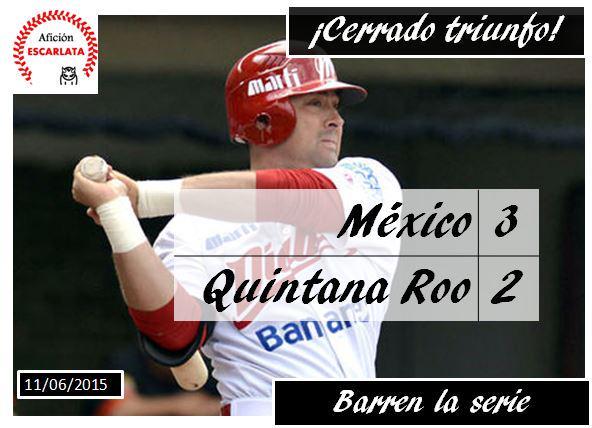 Diablos Rojos del México derrotan a Tigres de Quintana Roo 3-2 y barren la serie http://t.co/62Bi98PNC2