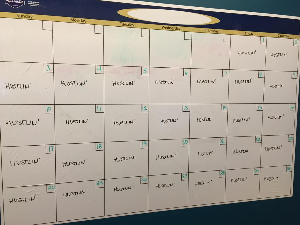 Completely legitimate use of a @Fathead calendar, @QLTechnology. I approve. #Hustlin http://t.co/oILiBwx0Ds