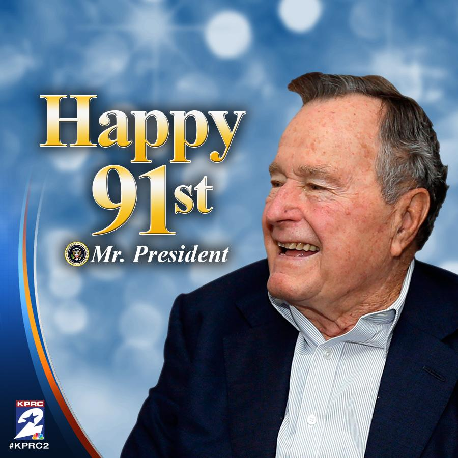 41 Is 91 Today Happy Birthday To Former President George