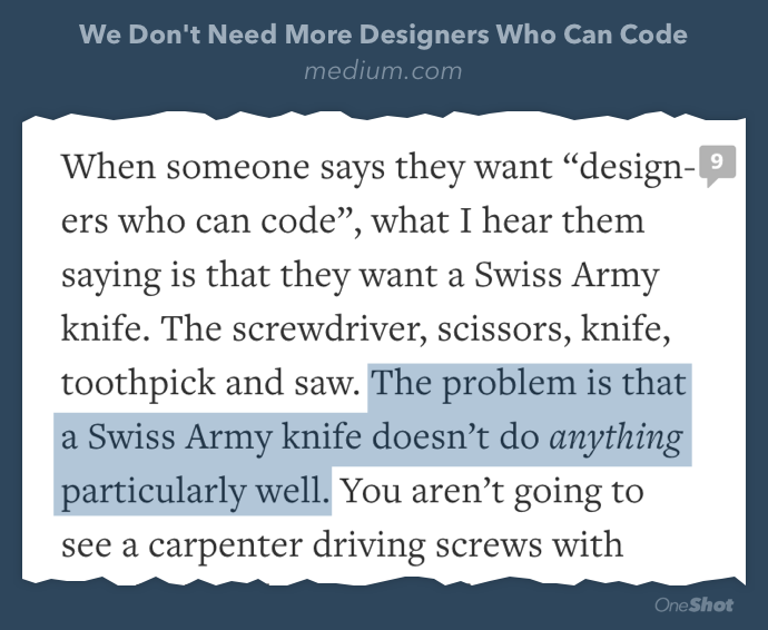 If your designers write code engineering is happy with, you might have an engineering problem https://t.co/ws5R4Dll8K http://t.co/JJEHWBRcsH