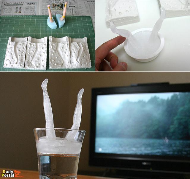 傑作選)「犬神家の一族」の、あの有名な湖面から突き出た死体の足。グラスに再現できる製氷機を作った。 #dpz  http://t.co/flrlVzOAwK http://t.co/kV7tx5cpXE