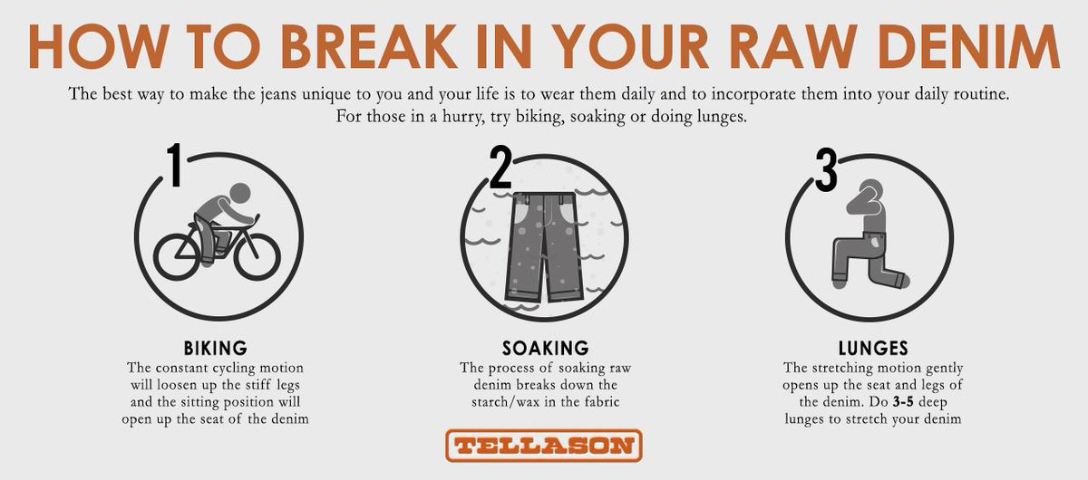 Check out our latest piece about some of our favorite methods and tricks to break in raw denim http://t.co/nWCXTRk4FS http://t.co/XY30wtaXbP