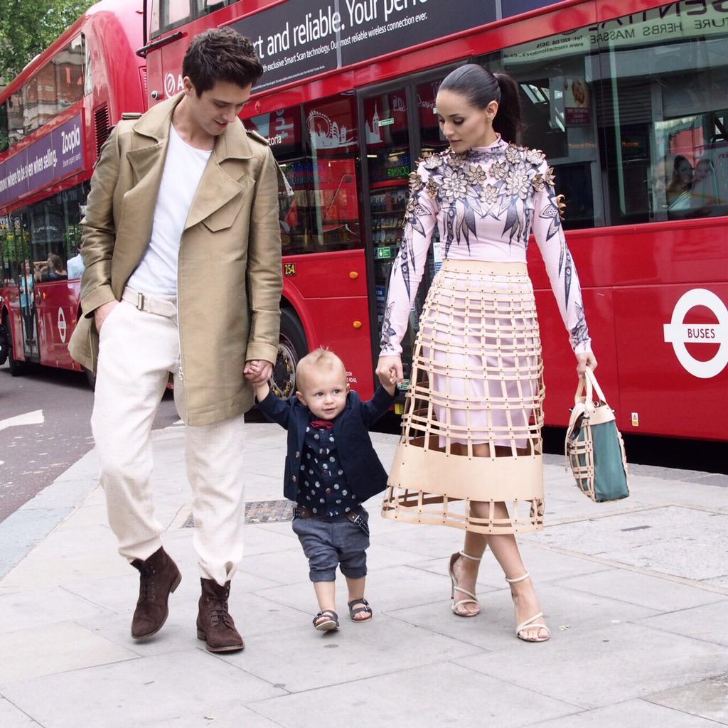 The most stylish family at #LCM no doubt JJ from @JJUJWorld & @mscaterinalopez |