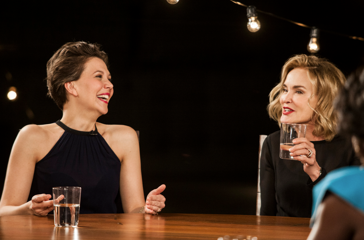 .@mgyllenhaal, Jessica Lange and Drama Actress A-List Tackle Race, Sexism, Aging in Hollywood