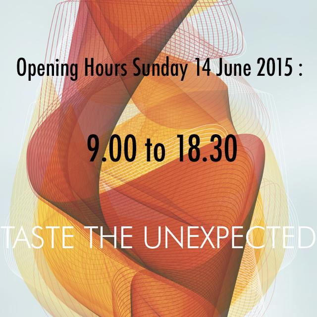 #Vinexpo2015 Opening hours : Sunday 14 June 2015 => 9.00AM to 6.30PM http://t.co/8MmqYK5pRq
