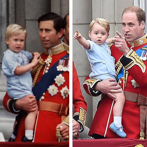Like father, like son... Prince William in 1984 & Prince George in 2015 http://t.co/0aZiY7NFoj