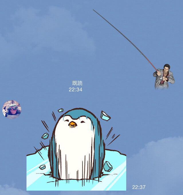 桐生ちゃん、ペンギンを釣る http://t.co/nMD8mqIr7d