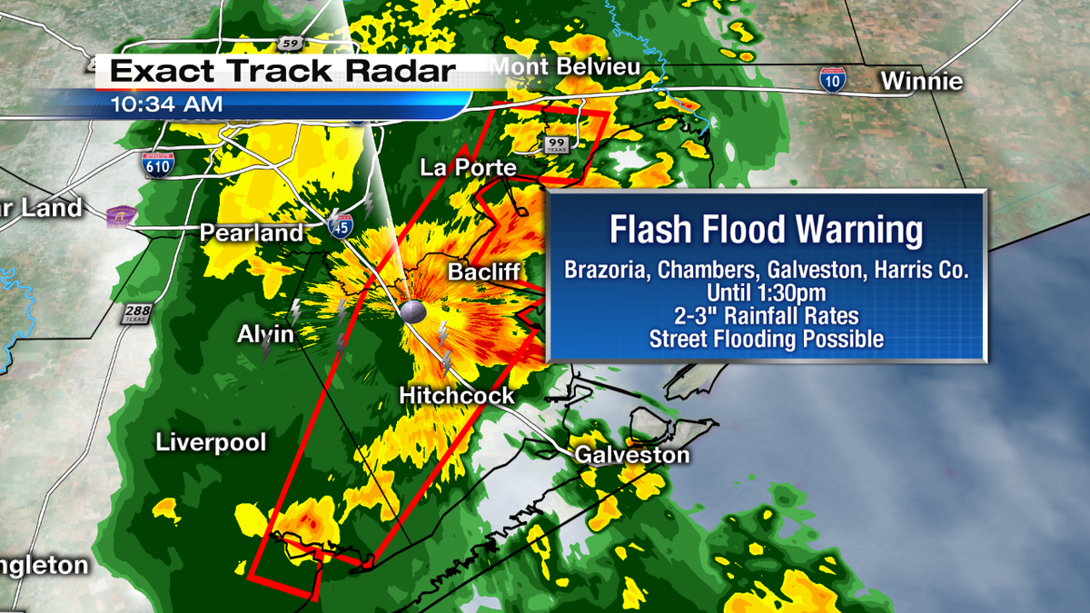 New Flash Flood Warning For More Heavy Rain League City