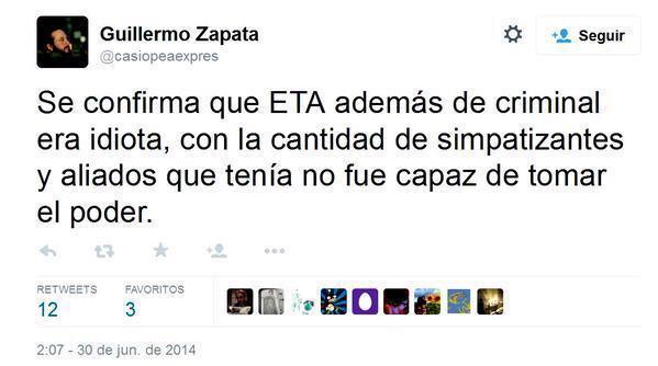 Si @ManuelaCarmena no exige a Guillermo Zapata su inmediata dimisión será cómplice de sus barbaridades. http://t.co/BIOs4YiOXt