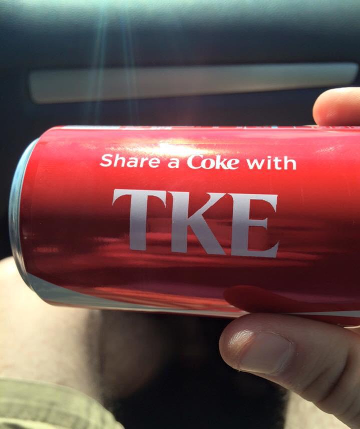 Share a Coke... #IAMTKE http://t.co/Na9vgT2AG5