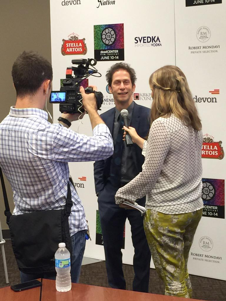 "A little interview with Tim Blake Nelson, 2015 Oklahoma Film ICON and director of ""Anesthesia"" http://t.co/ppTKS0A95r"