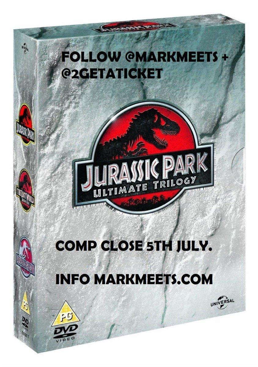 COMPETITION Win Jurassic Park Boxset on DVD. FOLLOW @MARKMEETS + @2GETATICKET + RT. T's & C's http://t.co/tdIt3EK1Qo