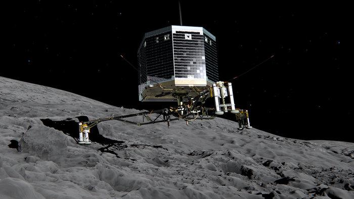 YES!!! @ESA's comet lander #Philae has woken up after sleeping on Comet 67P for seven months! http://t.co/HWLvG9Sk5o http://t.co/7sdWvU1h6Y