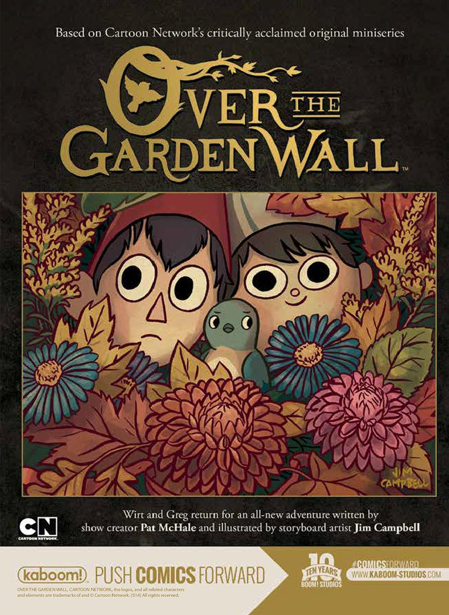 #OverTheGardenWall limited comic series by @Patrick_McHale & Jim Campbell coming in August! Preorder at your LCS! http://t.co/yg7V78ZWSp