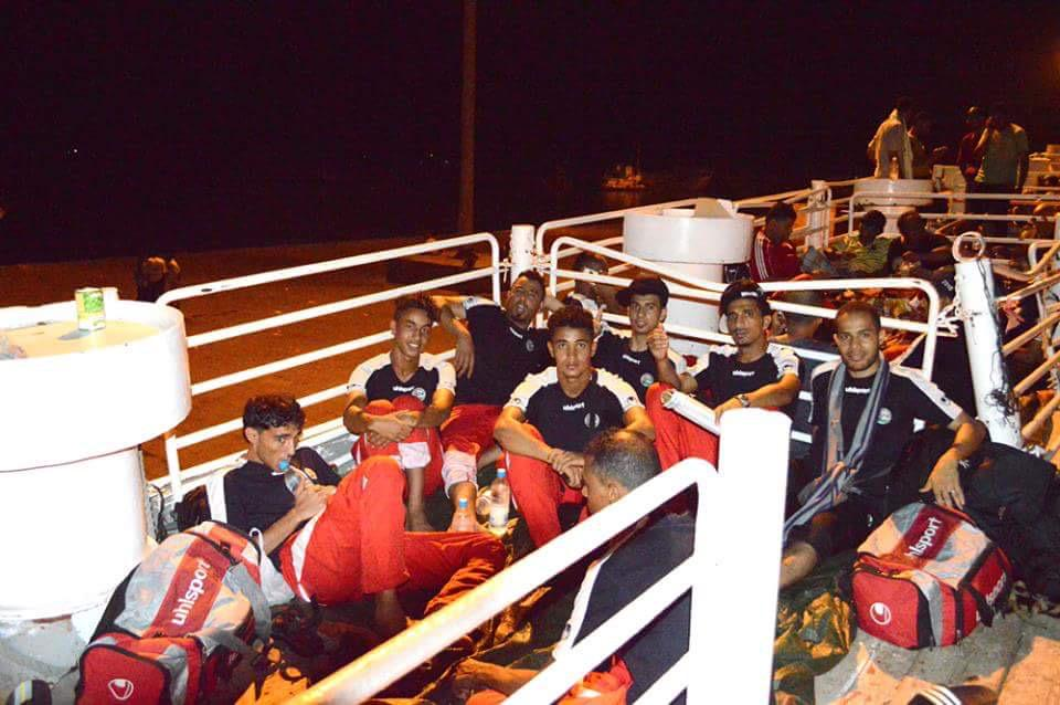 Unsung heroes. Yemen's football team, who escaped war last month by boat, now in Qatar for World Cup qualifiers http://t.co/kAQ4fCqeLA