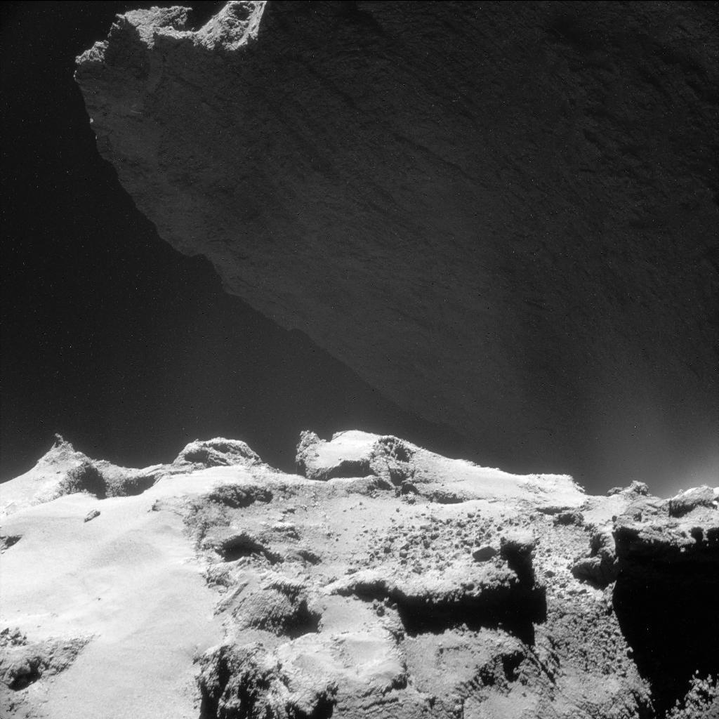 Comet lander Philae just sent a photo back from the surface of a comet, 500 million miles away from Earth. Awesome. http://t.co/gVGNeCHAgj