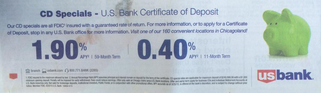 Usbank Touts 59 11 Month Cds W 19 04 Apys Respectively