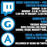 RT @GameOverGreggy: One hour. @feliciaday. Fallout 4. #KindaFunnyE3's first conference. http://t.co/679N4RhuW3