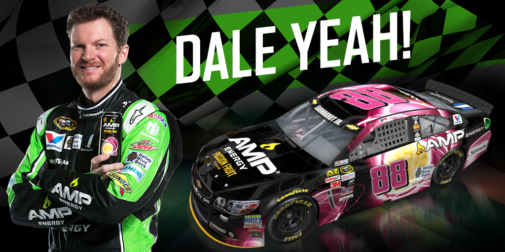 Great job by @DaleJr taking 2nd place in Michigan representing @AMPEnergy Passion Fruit! http://t.co/5YTeQ1lu5d