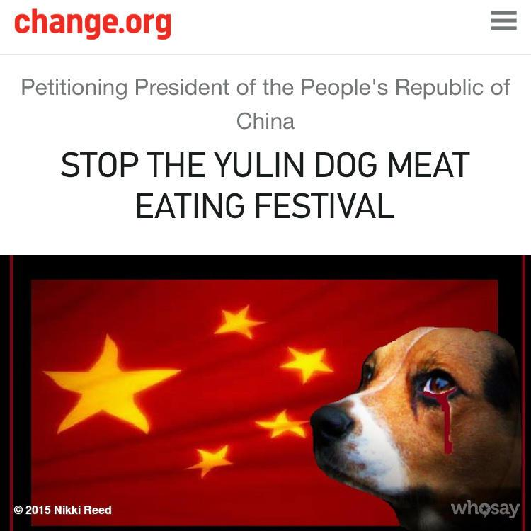 Guys!You want to help? Start by signing this! http://t.co/LdRKLu95DW stop the #yulindogmeatfestival http://t.co/gsGiCazepm