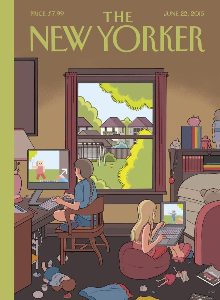 Chris Ware's @NewYorker covers – a record of 21st century parenting. http://t.co/GzSurf4u9C