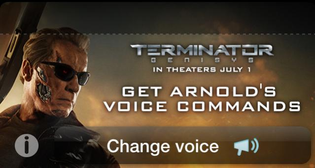 You'll Be Back...Home Faster w/ Arnold Schwarzenegger's Voice on Waze! Now Available! Settings > Sound >Terminator! http://t.co/QwrSkNcbGT