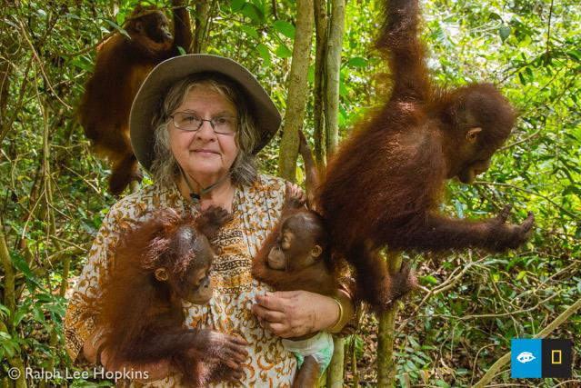 .@DrBirute at the Orangutan Care Center she founded to help save this endangered species on Borneo. @ralphleehopkins http://t.co/F4OWobzJQ5
