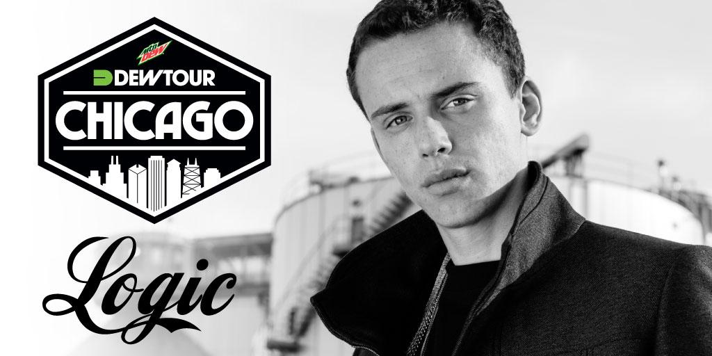 As part of Dew Tour Chicago, @Logic301 will headline a special concert on Saturday. TICKETS: http://t.co/l5JFfmNj5o http://t.co/17afxsEMsh