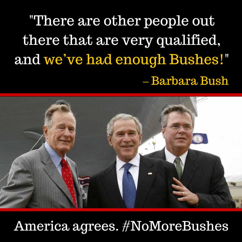 TWITTERBOMB!!!  #NoMoreBushes #NoMoreBushes #NoMoreBushes #NoMoreBushes #NoMoreBushes #NoMoreBushes #NoMoreBushes http://t.co/RTUnQFaLJL