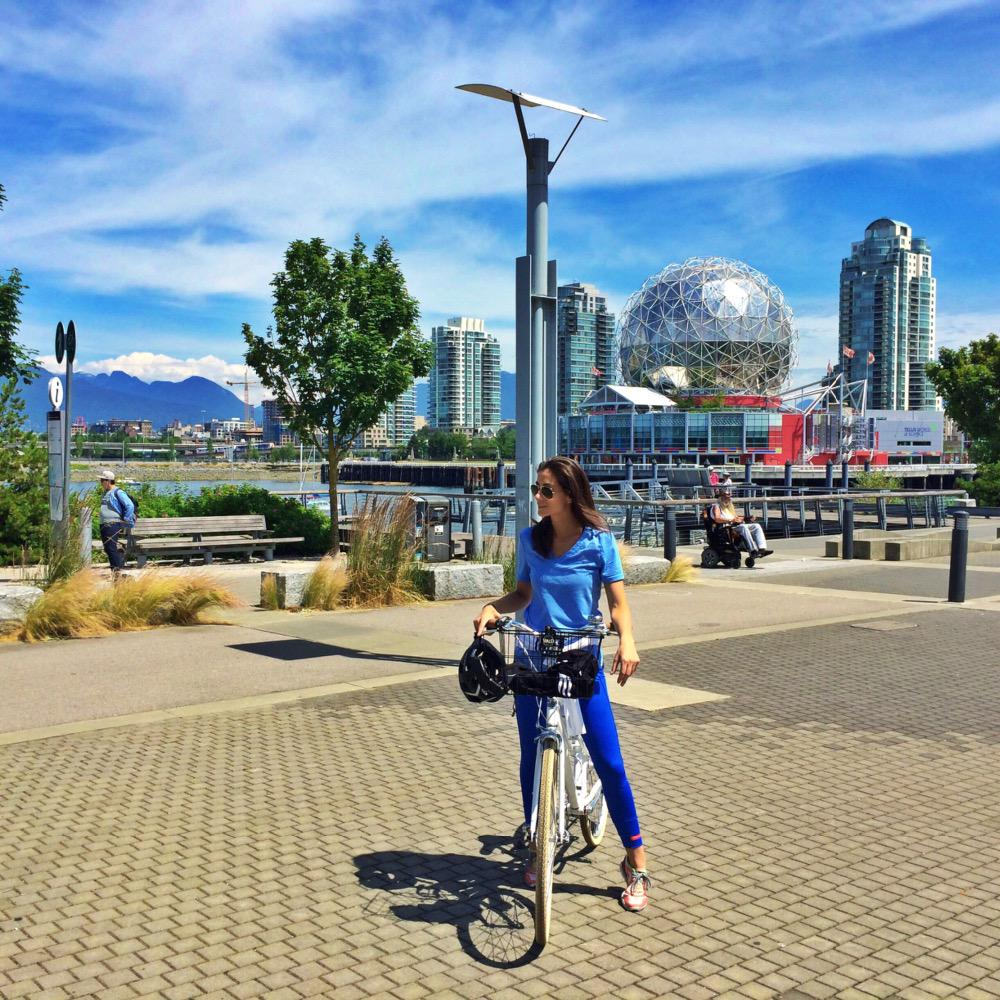 The best way to see a new city is to bike it! W @adidasWomen #BeTheDifference #findyourathlete #vancouver http://t.co/U9DrlZDiHQ