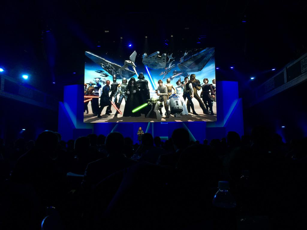 New @EAStarWars mobile game. Star Wars Galaxy of Heroes coming later this year! #EAE3 http://t.co/RVYhmcW5nh