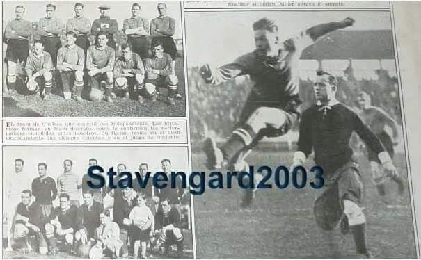 15/6/1929: Independiente 1 Chelsea FC 1. El  gol de los Diablos Rojos lo marco Seoane.