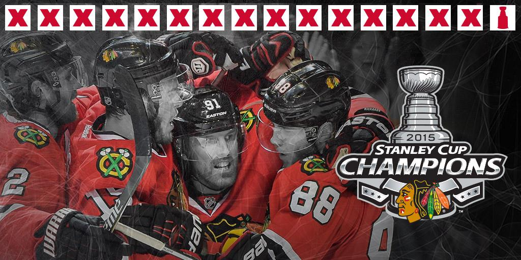 The Chicago Blackhawks are the 2015 #StanleyCup Champions. http://t.co/uycFP5AUD7